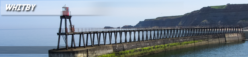 Whitby harbour entrance as seen from the church graveyard
