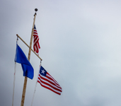 The US flag flies proud at the Palmer Station