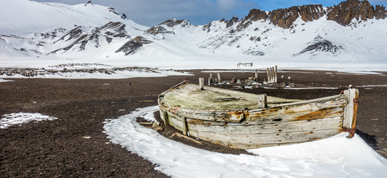 Remains of an old Whaling boat on Deception Island