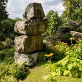 Rock formations in the Rockery
