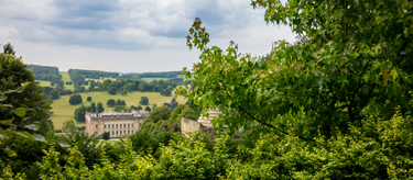 A far off view of Chatsworth House