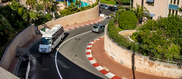 Famous chicane of the Monaco F1 track