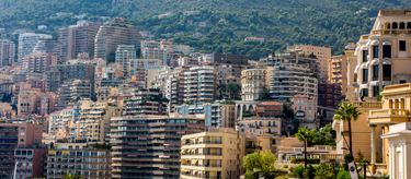 Appartments and residential buildings adorn the hills surrounding Monaco