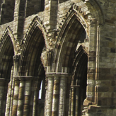 The impressive Whitby Abbey ruins