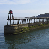 Whitby harbour entrance - love the colours in this photo