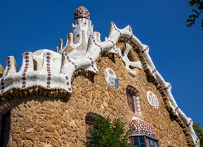 Entrance building of Park Guell, Barcelona