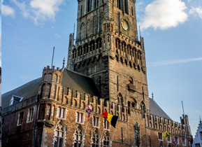 The iconic Belfry in the Market Square, Bruges