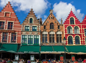 Step-gable buildings in the Market Square, Bruges