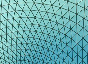 Beautiful roof of the British museum, London