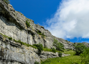 Malham Cove limestone formation in North Yorkshire