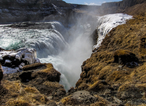 Gullfoss Waterfall on the Golden Circle trail