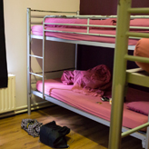 4 bed dorm that I stayed in
