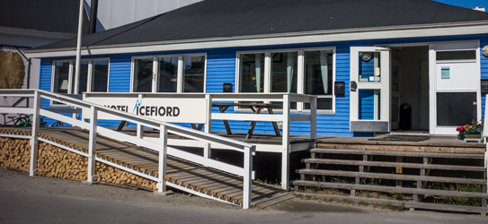 Front of the Hotel Icefiord