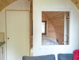 Our beautiful glamping pod!