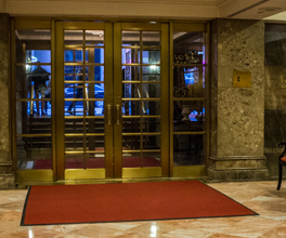 Main lobby entrance of the Michelangelo Hotel Manhattan, New York