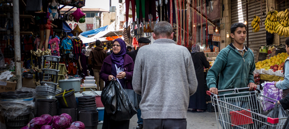 People happily going about their daily business in Amman