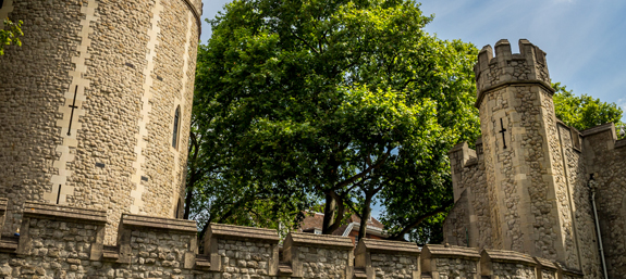 Walls surrounding the Tower of London