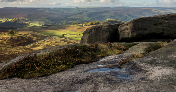 Rock formations of Higger Tor