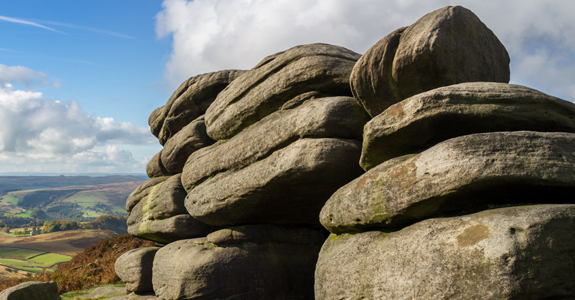 Strange rock formations on Higger Tor