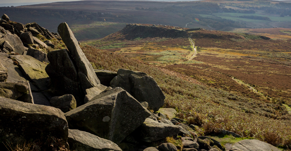Epic landscape of the Peak District and Higger Tor